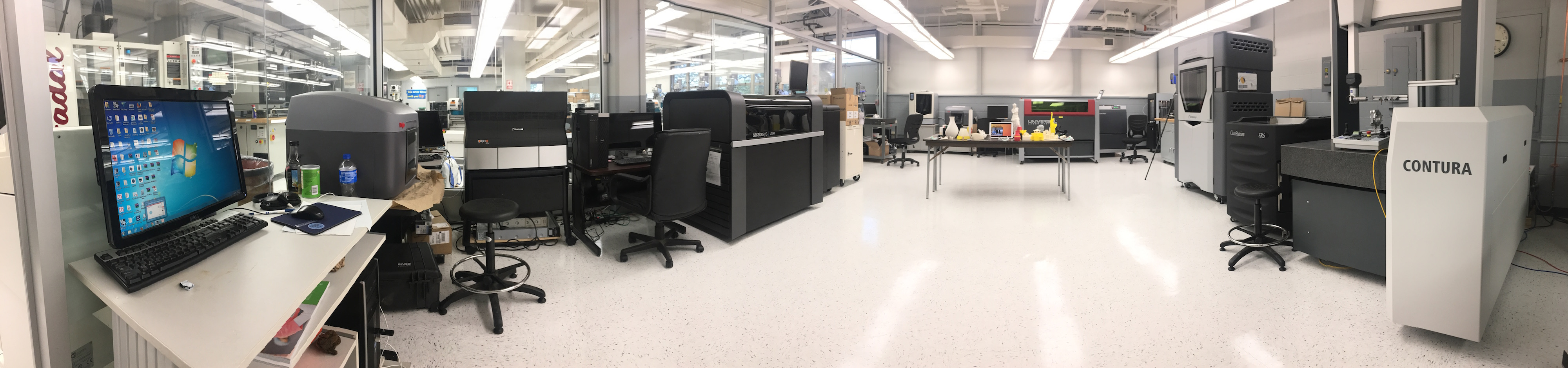 Advanced Manufacturing Lab equipment view